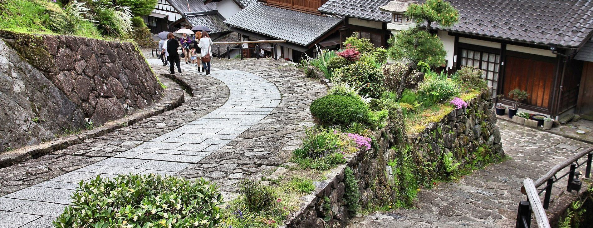 mastroviaggiatore-magome&Tsumago- famous Nakasendo trail in Magome old town. Old route hundreds of years old Copertina.
