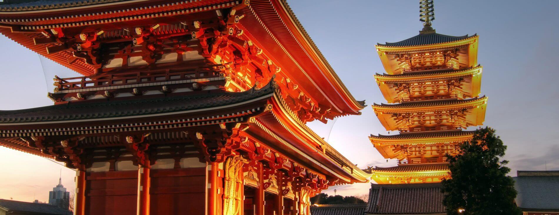 mastroviaggiatore-tokoy-asakusa sensoji tramonto copertina