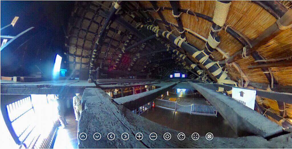 IMMAGINE IMMERSIVA 360° di un sottotetto di Shirakawa-go