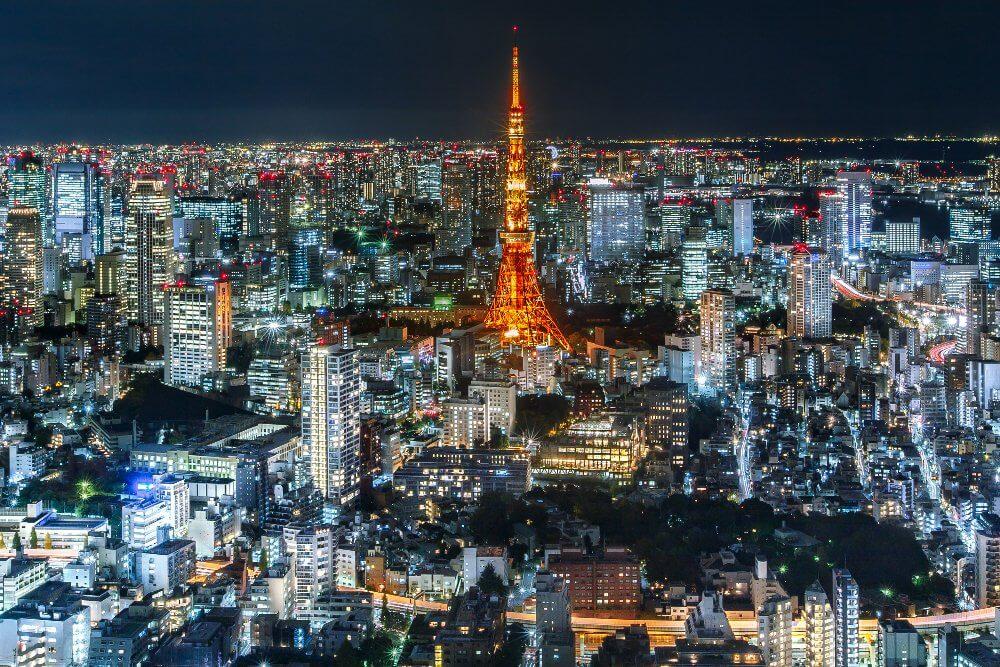 MASTROKIMONO-Tokyo Tower skylines