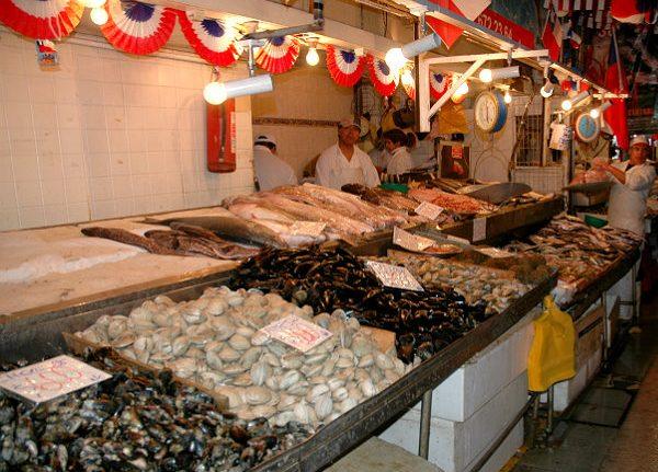 Mercado Central Santiago del Cile - pesce